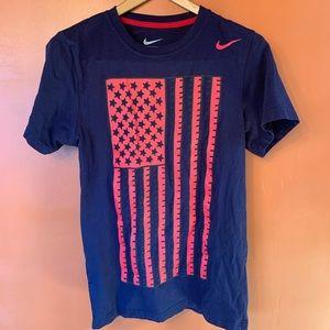 Nike Team USA Soccer American Flag T Shirt